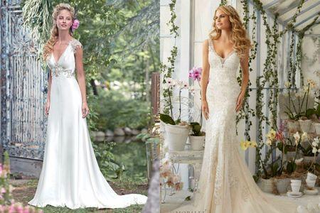 15 vestidos para que luzcas m�s alta en tu boda