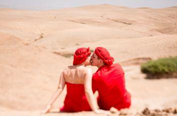 El increíble matrimonio de Charline y Bruno con viaje al desierto