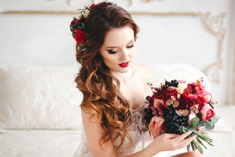50 peinados de novia con cabello suelto  estilo y libertad en tu gran día d884a099f3d6