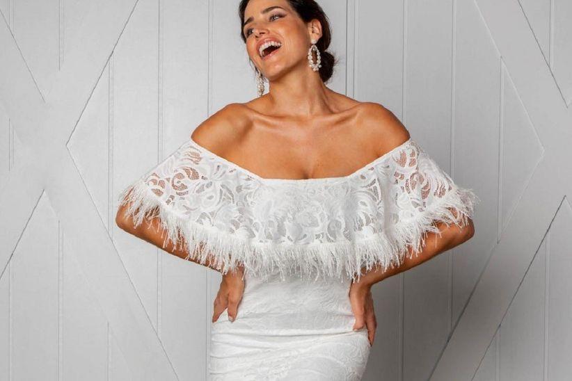 8a7af9b85 50 vestidos de novia para matrimonio civil 2019  ¡diseños ...