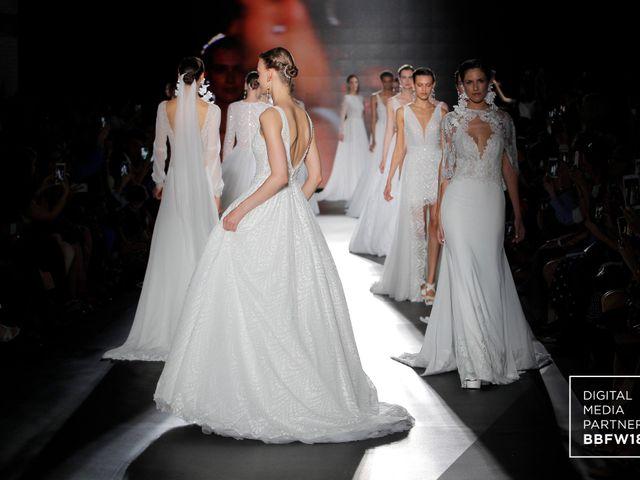 Desfile de la colección vestidos de novia Rosa Clará 2019 en la Barcelona Bridal Fashion Week