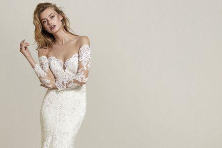 Vestidos de novia con manga larga: tan románticos como jamás imaginaste