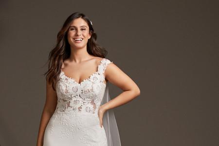 40 vestidos para novias curvy: tendencias 2020 para la mujer de tallas completas