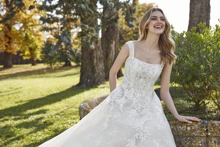 Vestidos de novia con escote cuadrado 2021, ¡lúcete con lo más trendy del año!