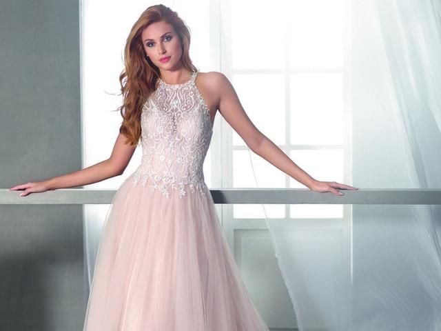 35 vestidos de novia con toques de color 2019