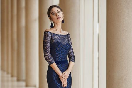 Estos son los 60 vestidos de fiesta azules más bonitos del 2021