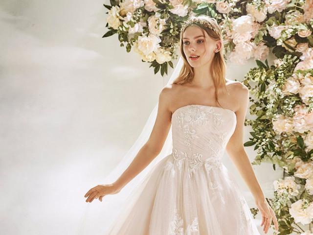 25 vestidos de novia 2020 con escote strapless: ¡coquetería al descubierto!