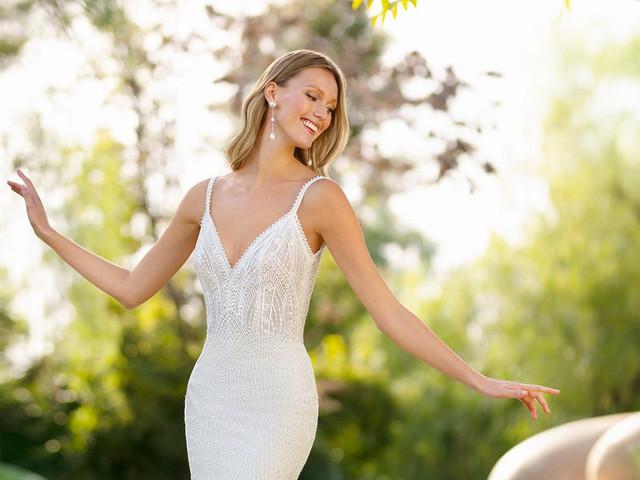 82 vestidos de novia para verte delgada: ¡diseños de impacto que estilizarán tu figura!
