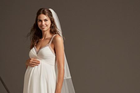 35 vestidos de novia para embarazadas: tendencias 2020 para cada etapa de la dulce espera