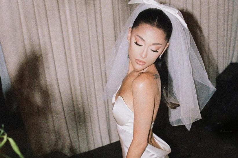 vestido de novia de ariana grande