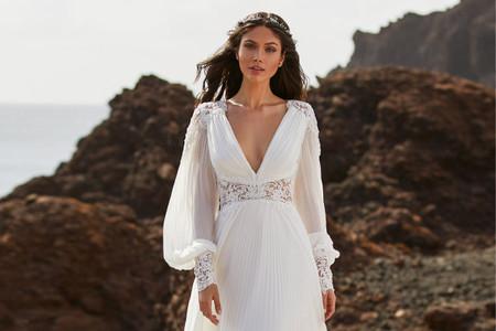 Vestidos de novia con manga larga: inspiradoras tendencias 2021