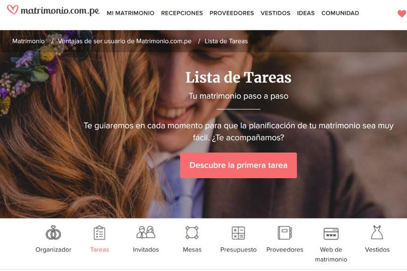 Lista de tareas de matrimonio.com.pe