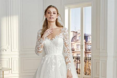 Vestidos de novia con encaje: 60 diseños que dictan la moda