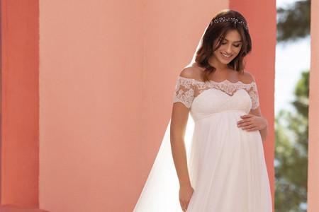 Vestidos de novia para embarazadas: descubre los diseños que son tendencia este 2021