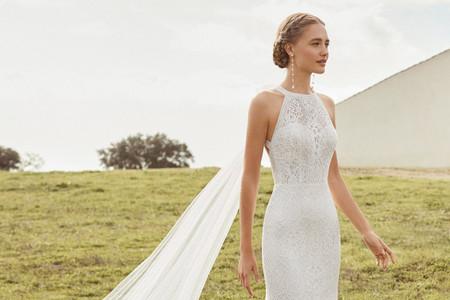 Vestidos de novia escote halter 2021: 5 tendencias que te enamorarán