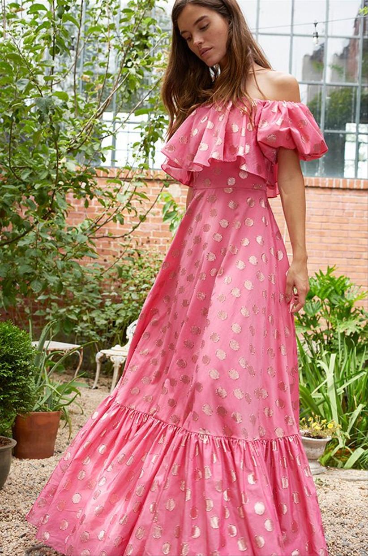 vestido de fiesta con lunares