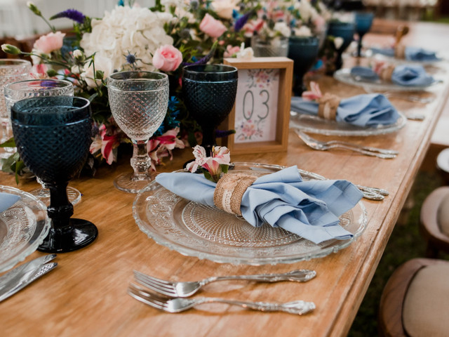 6 básicos de la decoración del banquete de bodas: ¡que nada se les escape!