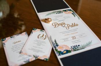 60 modelos de tarjetas de matrimonio: 6 claves para elegir la mejor