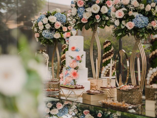 Decoración de boda en color oro: elegancia y brillo con toques en dorado