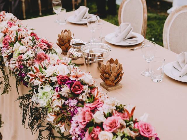 Decoración floral: 5 lugares clave para poner flores en su boda