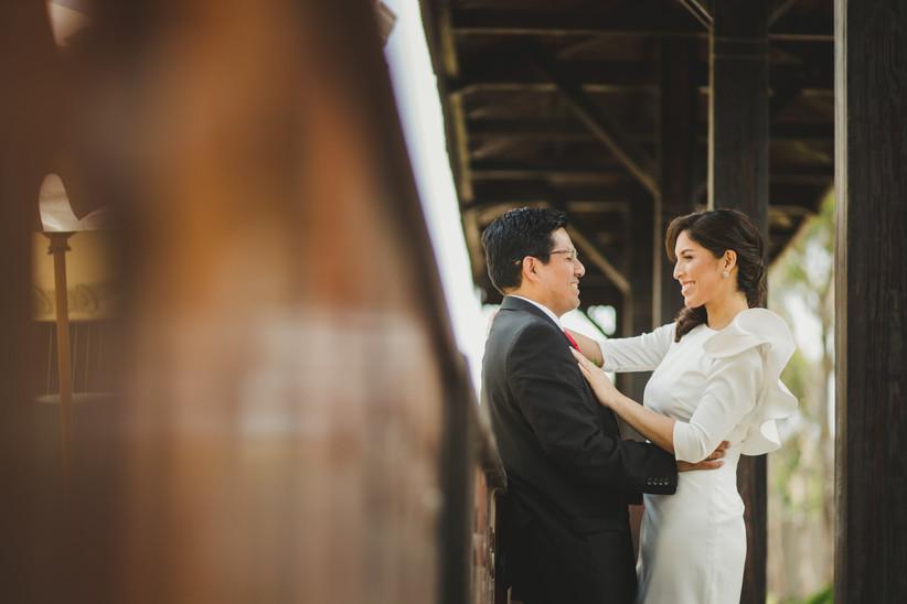 pareja matrimonio civil sesión de fotos