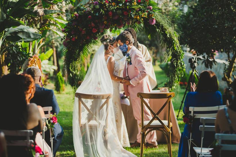 ceremonia de matrimonio al aire libre