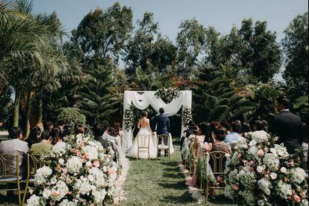 6 claves para la decoración floral de bodas al aire libre