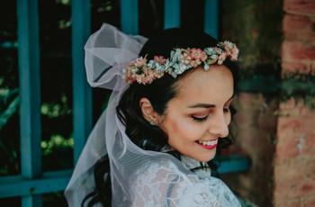 Coronas de flores para novias: 10 claves para lograr el look bridal perfecto
