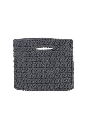CLUTCH NO FRINGE DENIM, Binge Knitting