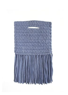 CLUTCH FRINGE BELOW PDENIM, Binge Knitting