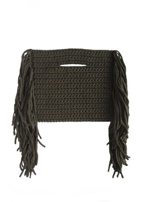 CLUTCH FRINGE ON SIDE, Binge Knitting