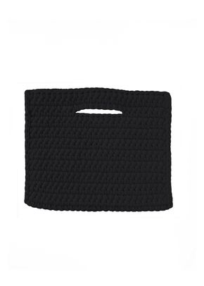 CLUTCH NO FRINGE BLACK, Binge Knitting