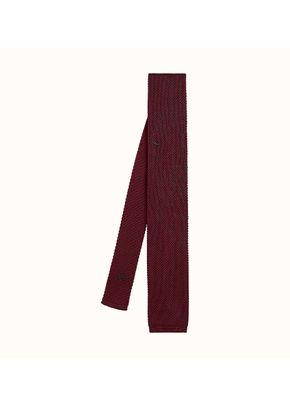 Corbata Tricot de soie brodée Tête-à-Tête , Hermès