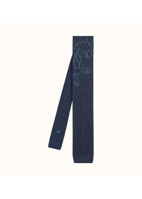 tricot de soie brodee dragon flash, Hermès