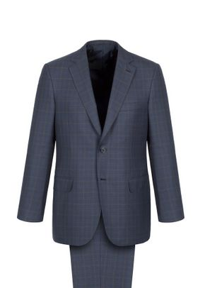 NAVY BLUE SUBTLE CHECK BRUNICO, Brioni