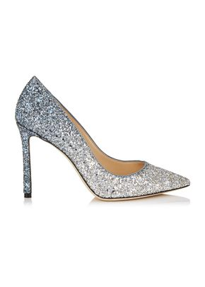 ROMY 100 SILVER AND DUSK BLUE, Jimmy Choo
