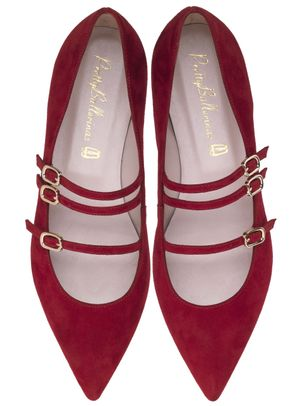 Ella red three strap, Pretty Ballerinas
