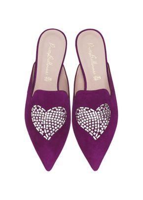 Ella violet Swarovski heart, Pretty Ballerinas