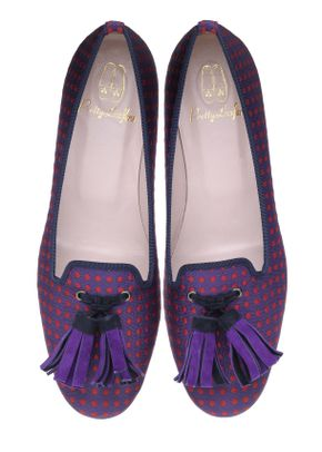 Faye spotty purple tassel, Pretty Ballerinas