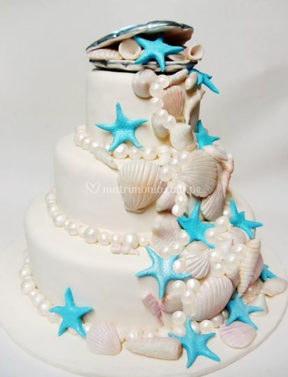 Torta para boda en la playa