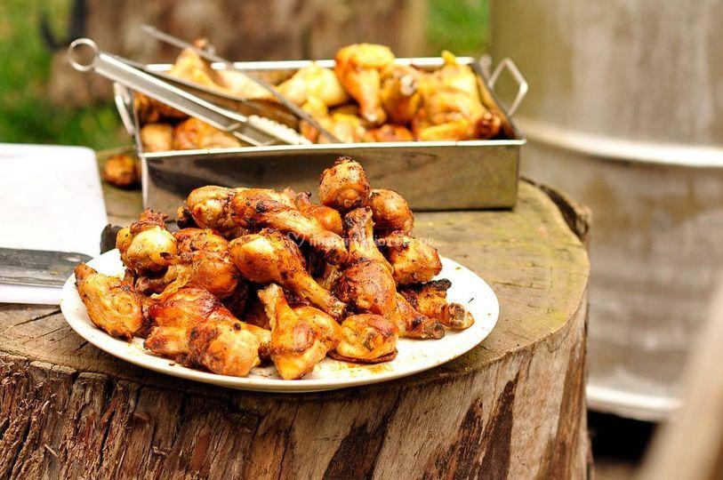 Ahumados de pollo al cilindro