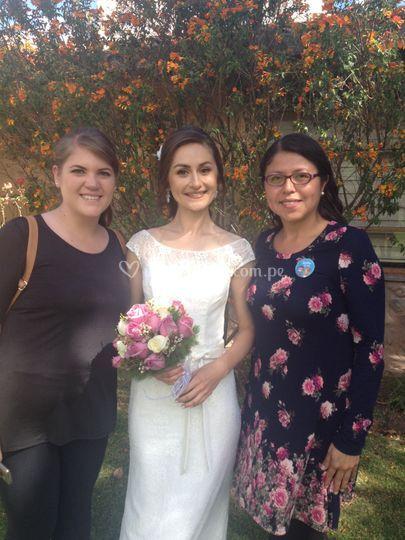 Con Yulia, la novia