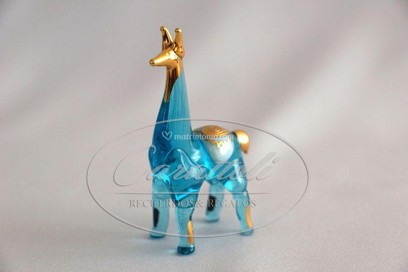 Llama de cristal con oro 18K
