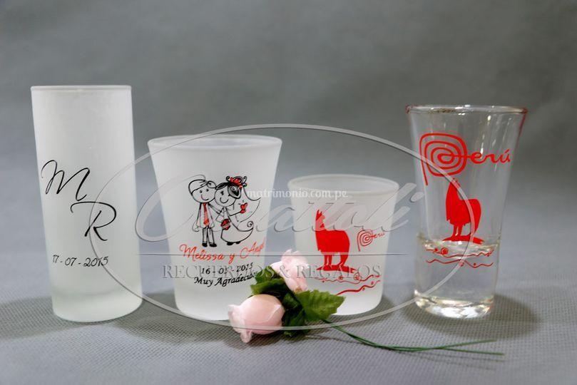 Vasitos de vidrio