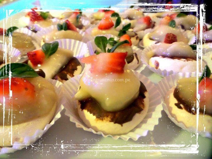 Mini merengados de chirimoya