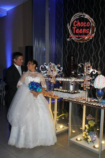 Boda color azul