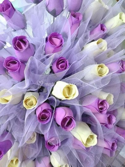 Recuerdos rosas de madera
