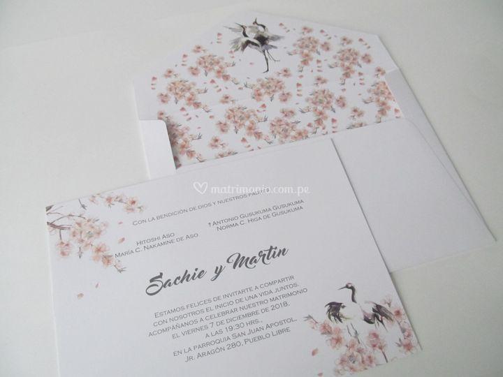Sakuras y grullas