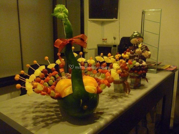 Cisne de frutas