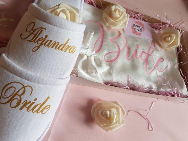 Pantuflas para novia